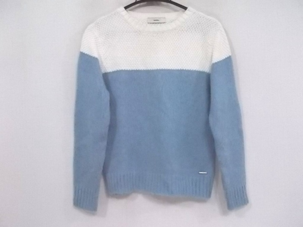 ディーゼル 長袖セーター サイズXS レディース新品同様  アイボリー×ライトブルー