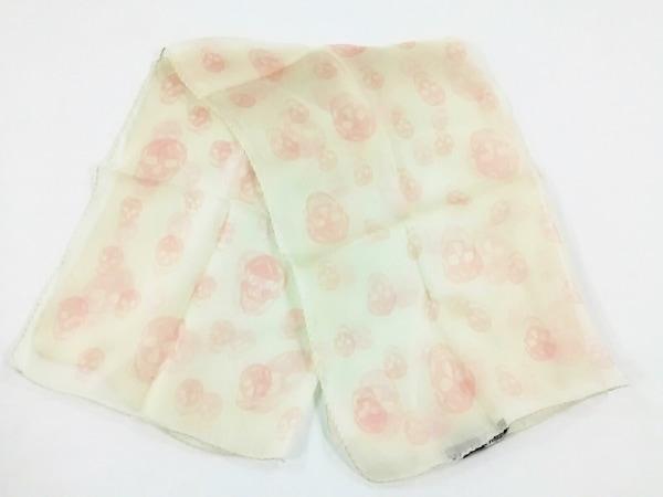 ALEXANDER McQUEEN(アレキサンダーマックイーン) スカーフ新品同様  イエロー×ピンク