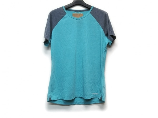 Patagonia(パタゴニア) 半袖Tシャツ サイズL レディース美品  ライトブルー×グレー