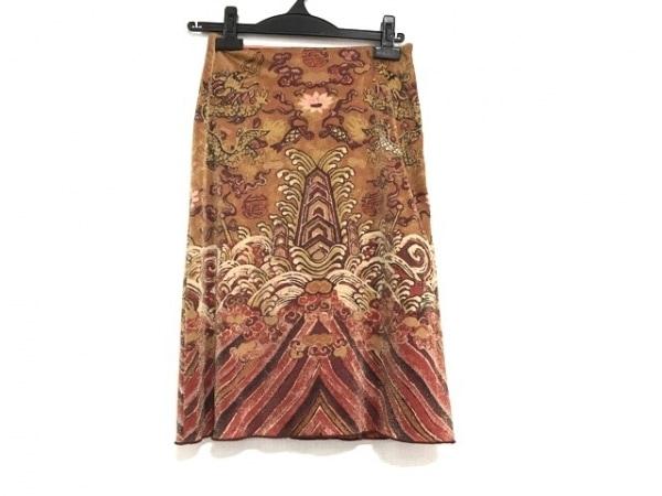 ヴィヴィアンタム スカート サイズ0 XS レディース美品  オレンジ×レッド×マルチ