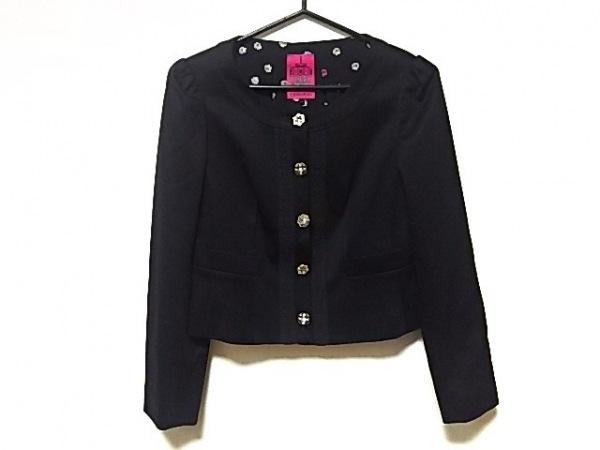 DOLLY GIRL(ドーリーガール) ジャケット サイズ1 S レディース美品  黒
