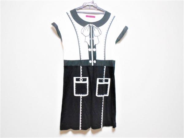 ドーリーガール ワンピース サイズ2  S レディース 黒×白 リボン/ANNA SUI