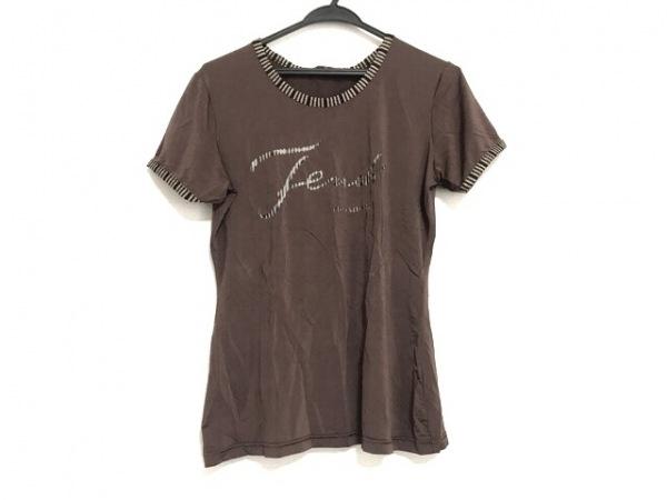 フェンディ 半袖Tシャツ サイズ44 L レディース美品  ダークブラウン×ベージュ×黒