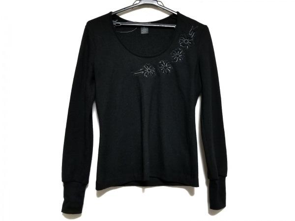 VIVIENNE TAM(ヴィヴィアンタム) 長袖セーター サイズ0 XS レディース 黒 フラワー