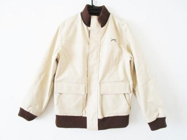 スワッガー コート サイズL メンズ ライトベージュ×ブラウン 冬物/Thinsulate