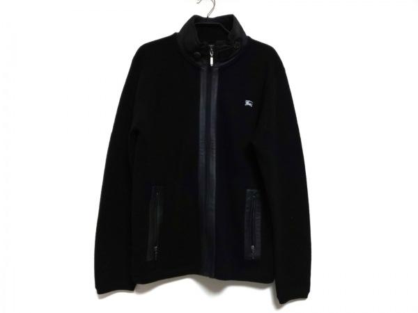 バーバリーブラックレーベル ブルゾン サイズ3 L メンズ 黒 春・秋物/ニット
