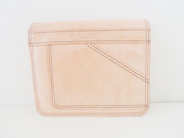 KAZUYO NAKANO(カズヨナカノ) 2つ折り財布 ピンク レザー