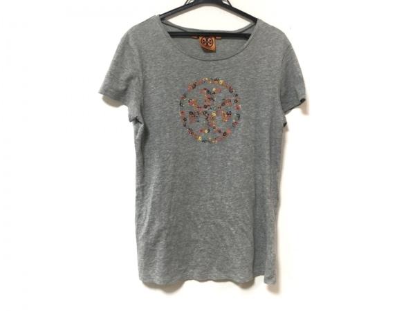 トリーバーチ 半袖Tシャツ サイズS レディース美品  グレー 刺繍/フラワー