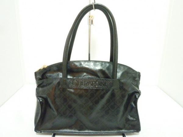 GHERARDINI(ゲラルディーニ) ハンドバッグ 黒 ミニサイズ PVC(塩化ビニール)×レザー