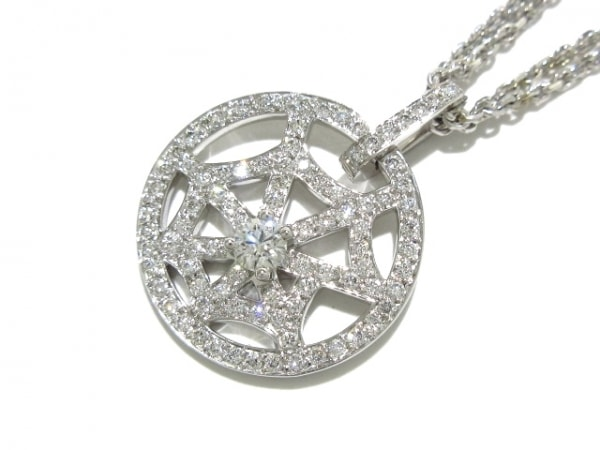 ショーメ ネックレス美品  K18WG×ダイヤモンド パヴェダイヤ/中央1PD約0.15ct
