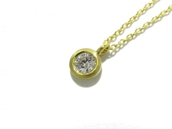 hum(ハム) ネックレス美品  K18YG×ダイヤモンド 1Pダイヤ/0.10カラット
