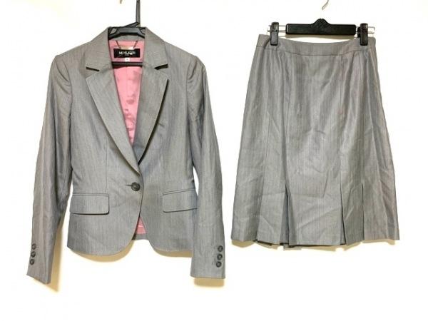 ミッシェルクラン スカートスーツ サイズ38 M レディース新品同様  グレー