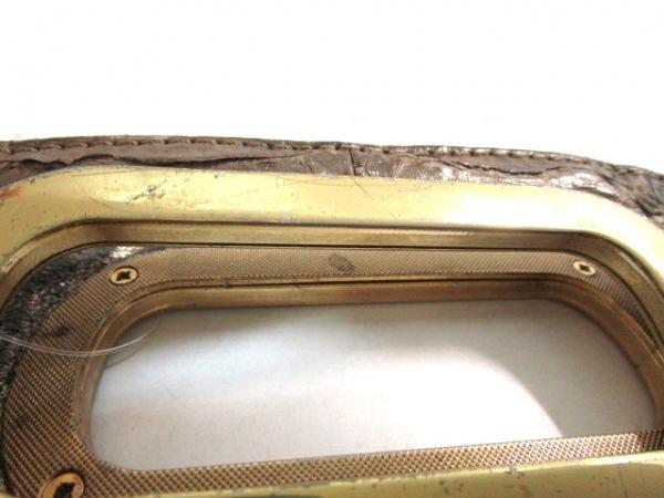 GALLARDAGALANTE(ガリャルダガランテ) ハンドバッグ ベージュ×ダークブラウン レザー