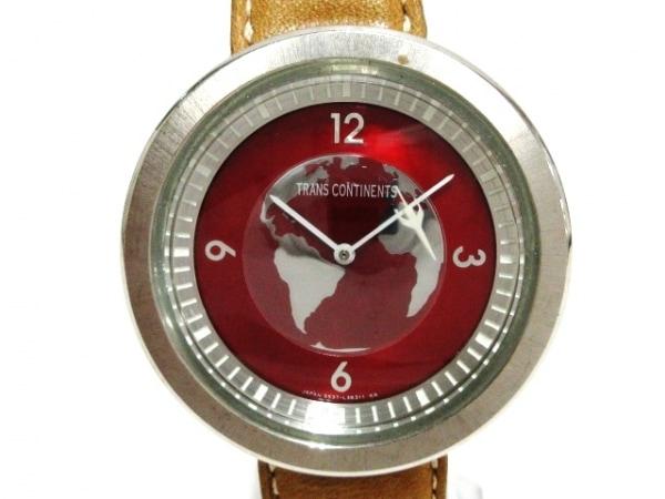 TRANS CONTINENTS(トランスコンチネンス) 腕時計 5537-L19346 レディース レッド