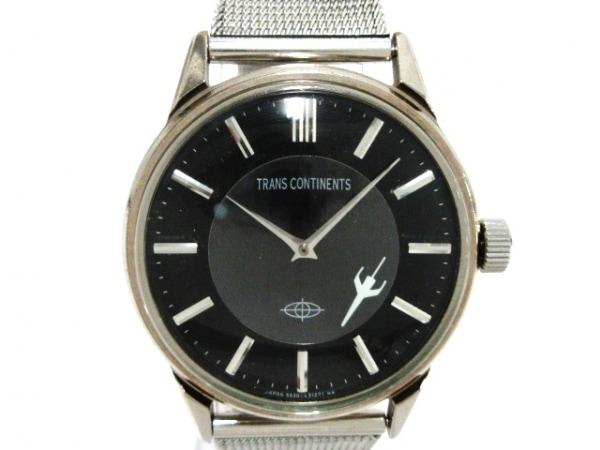 TRANS CONTINENTS(トランスコンチネンス) 腕時計 5537-L15219 レディース 黒