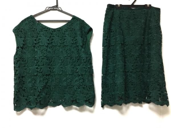 クリアインプレッション スカートセットアップ サイズ15 L レディース美品  グリーン