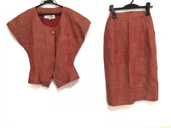 クリスチャンディオール スカートスーツ サイズ9 M レディース美品  レッド