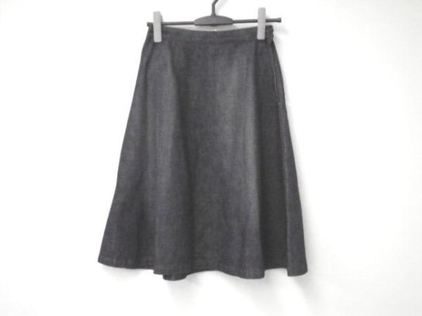 PRADA(プラダ) スカート サイズ40 M レディース ネイビー デニム