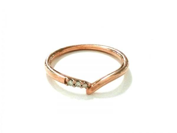 4℃(ヨンドシー) リング美品  K10PG×ダイヤモンド 3Pダイヤ