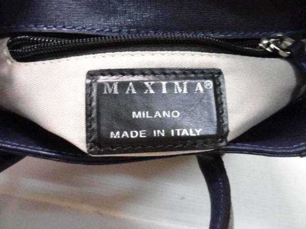 MAXIMA(マキシマ) ハンドバッグ ネイビー レザー