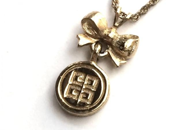 GIVENCHY(ジバンシー) ネックレス 金属素材 ゴールド リボン