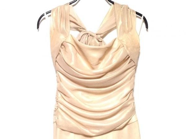 CEST LAVIE(セラヴィ) ドレス サイズ7 S レディース ベージュ ラインストーン