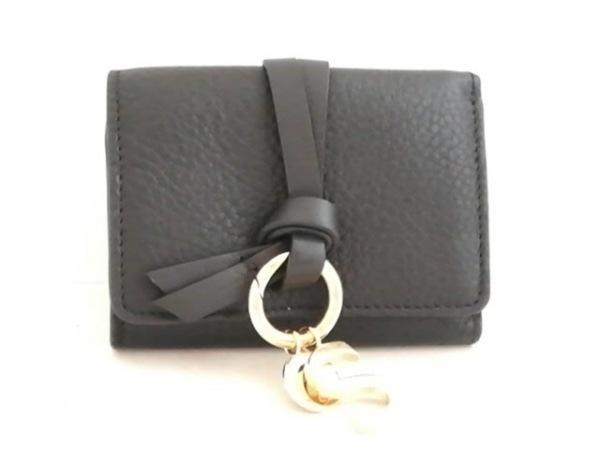 Chloe(クロエ) 3つ折り財布美品  - 黒 レザー