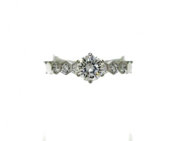 ショーメ リング 49美品  ビーマイラブ ハニカム リング 082244 K18WG×ダイヤモンド