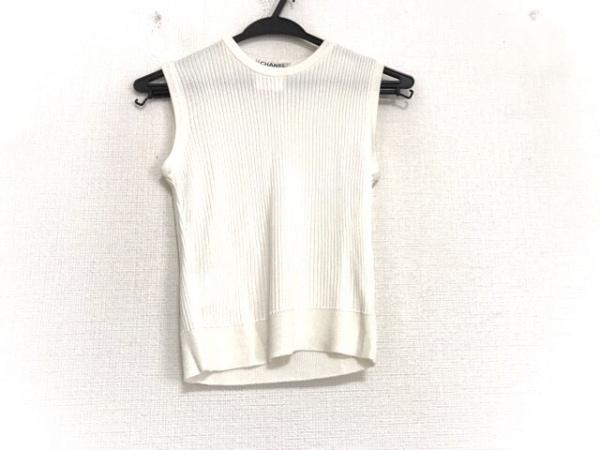 CHANEL(シャネル) ノースリーブセーター サイズ40 M レディース美品  アイボリー