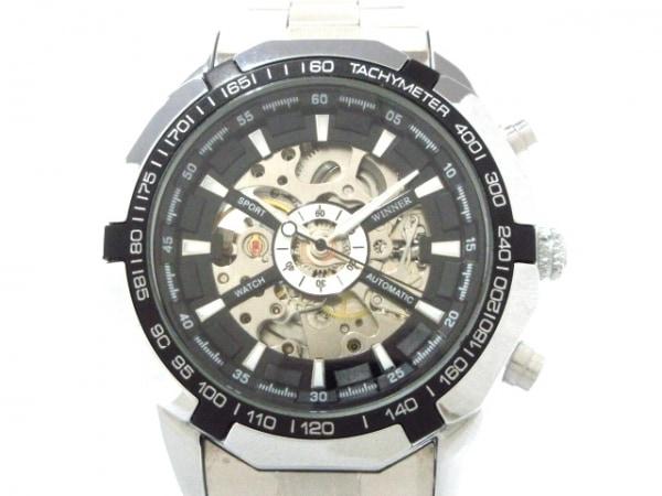 WINNER(ウィナー) 腕時計 TM340 メンズ 黒×シルバー