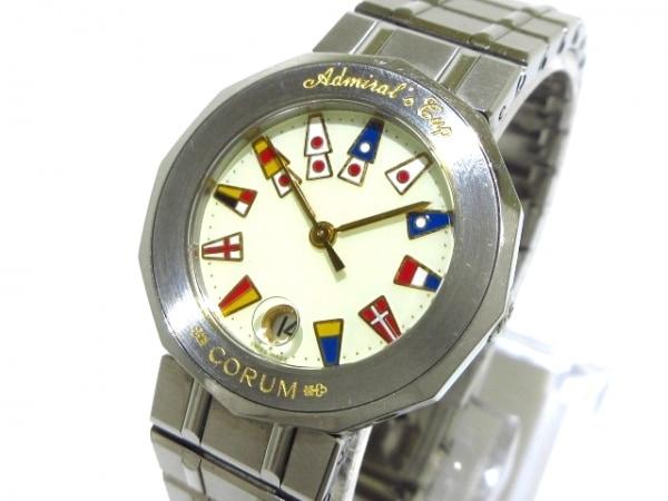 コルム 腕時計 アドミラルズカップ 39.610.20V50B レディース アイボリー×マルチ
