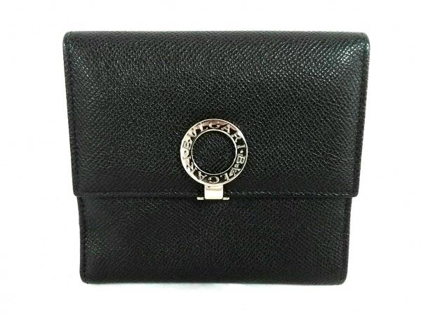 BVLGARI(ブルガリ) 2つ折り財布美品  ブルガリブルガリ 黒 レザー