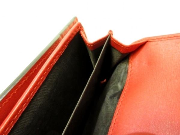 GUCCI(グッチ) 3つ折り財布 シルヴィ 476081 レッド×ダークネイビー 4