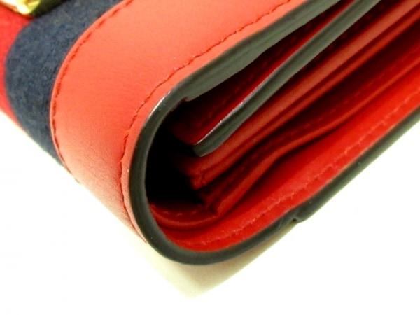 GUCCI(グッチ) 3つ折り財布 シルヴィ 476081 レッド×ダークネイビー 7