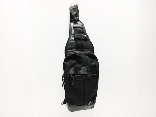 PORTER/吉田(ポーター) ワンショルダーバッグ美品  - 黒 ナイロン×PVC(塩化ビニール)