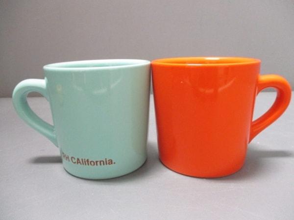 ロンハーマン マグカップ新品同様  ライトブルー×オレンジ 2個セット 陶器