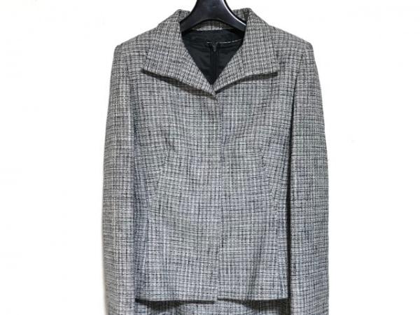 UNTITLED(アンタイトル) ワンピーススーツ サイズ1 S レディース美品  白×黒×グレー