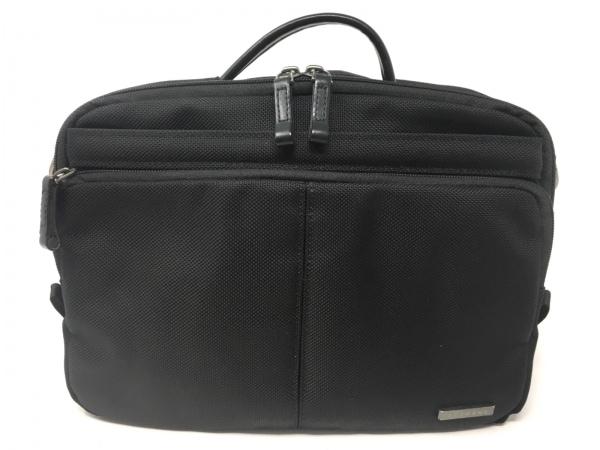 ACEGENE(エースジーン) ハンドバッグ 黒 ナイロン×レザー