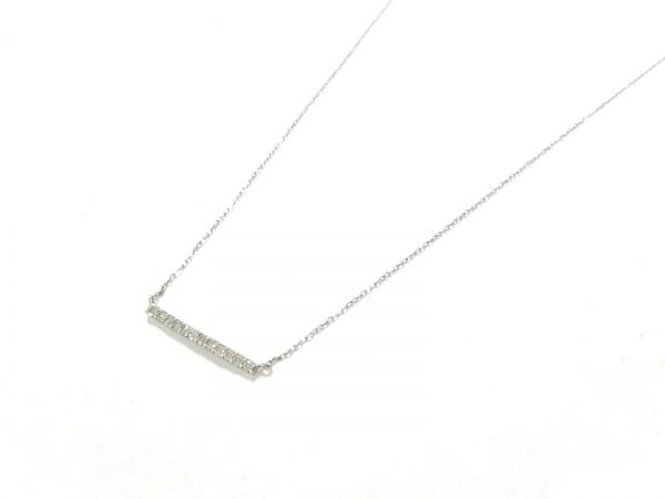 ノーブランド ネックレス美品  K18WG×ダイヤモンド クリア 総重量:0.7g/0.10刻印