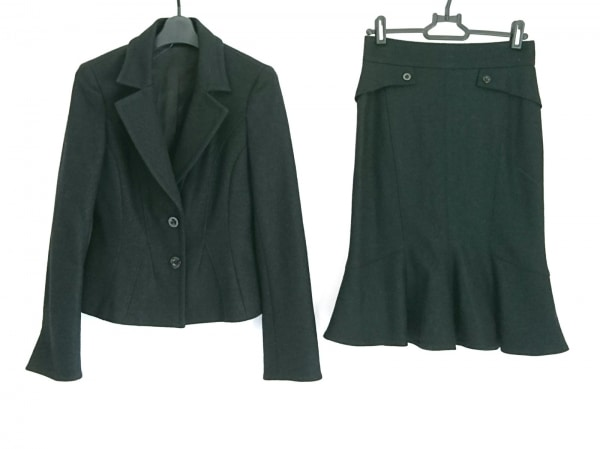 MATERIA(マテリア) スカートスーツ サイズ36 S レディース美品  黒 ラメ
