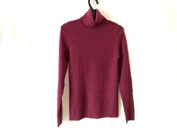 ジユウク 長袖セーター サイズ40 M レディース美品  ボルドー タートルネック