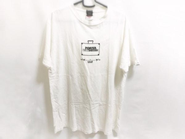 PORTER/吉田(ポーター) 半袖Tシャツ メンズ 白 ダメージ加工