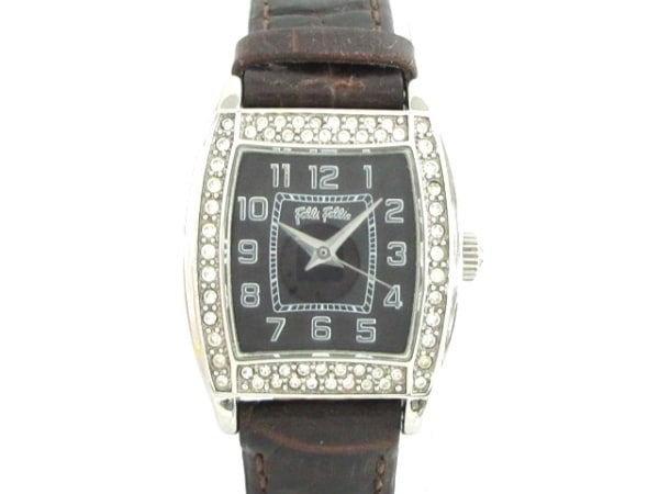 FolliFollie(フォリフォリ) 腕時計 S1240L/S レディース ラインストーンベゼル 黒
