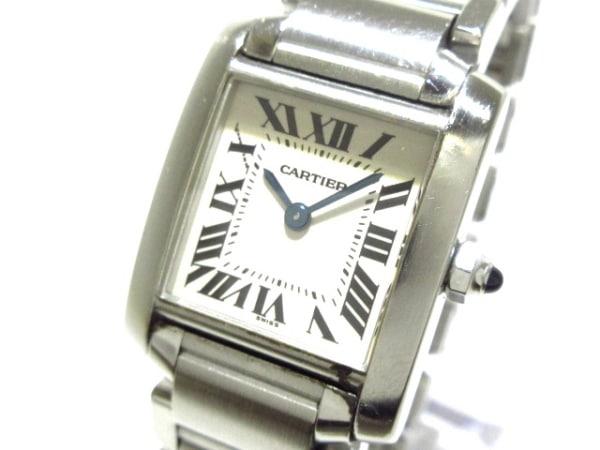 Cartier(カルティエ) 腕時計 タンクフランセーズSM W51008Q3 レディース SS 白