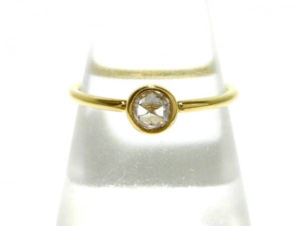 オレフィーチェ リング美品  K18YG×ダイヤモンド 1Pダイヤ/0.20カラット