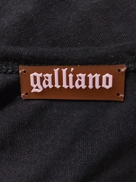 ガリアーノ タンクトップ サイズS レディース ダークグレー×イエロー×マルチ ビーズ