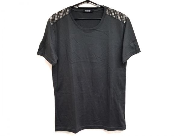 バーバリーブラックレーベル 半袖Tシャツ サイズ2 M メンズ美品  カーキ×白