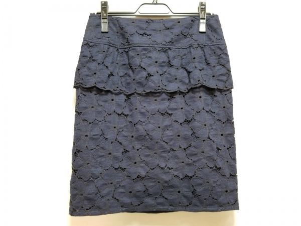 ナラカミーチェ スカート サイズ2 M レディース美品  ダークネイビー レース