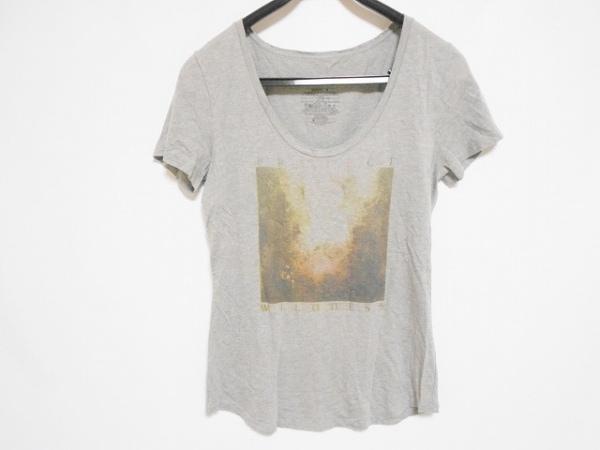Patagonia(パタゴニア) 半袖Tシャツ サイズM レディース グレー×ブラウン×マルチ