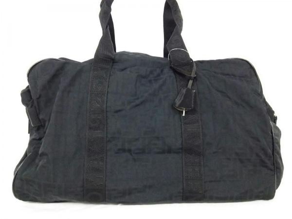 FENDI(フェンディ) ボストンバッグ ズッカ柄 - 黒 ナイロン
